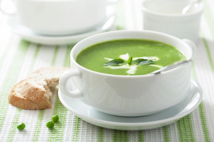 crema di piselli lattuga e spinaci